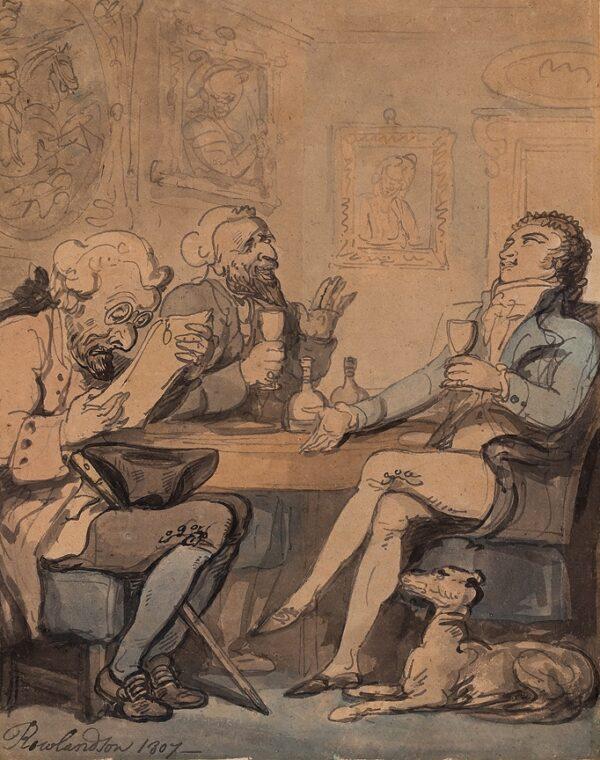 ROWLANDSON Thomas (1756-1827) - The Money Lenders.