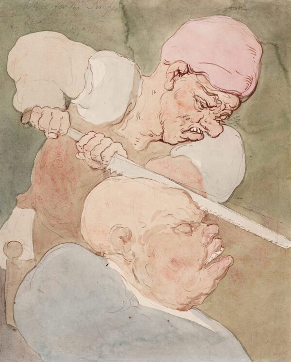 ROWLANDSON Thomas (1757-1827) - 'A Cure for the Simple': Trepanning.
