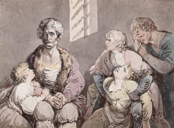 ROWLANDSON Thomas (1757-1827) - 'Count Ugolino and his Children in the Dungeon'.