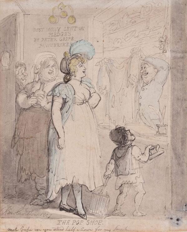 ROWLANDSON Thomas (1756-1827) - 'The Pop Shop'.