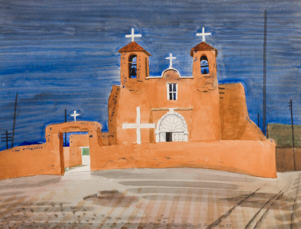 ROWNTREE Kenneth (1915-1997) - 'Mexican Church'.