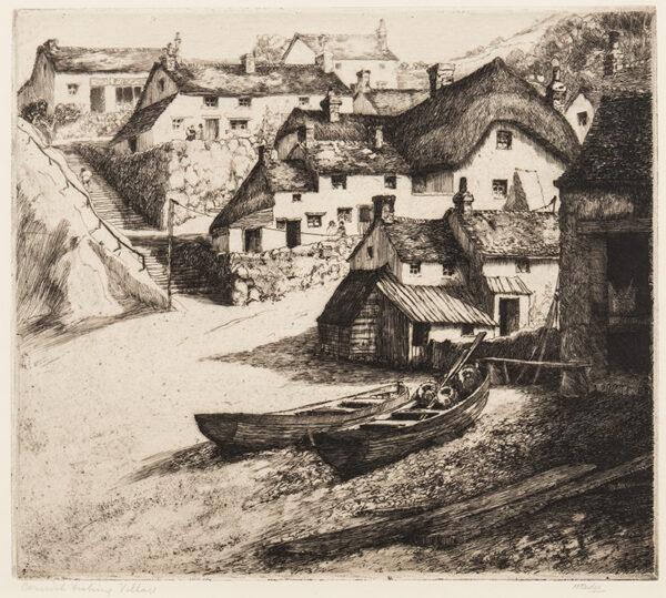 RUDGE Margaret (1885-1972) - 'Cornish Fishing Village'.