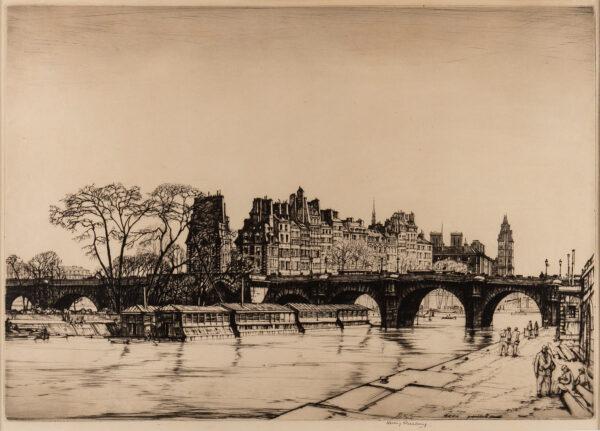 RUSHBURY Sir Henry R.A. R.E. (1889-1968) - 'Ile de la Cite, Paris'.