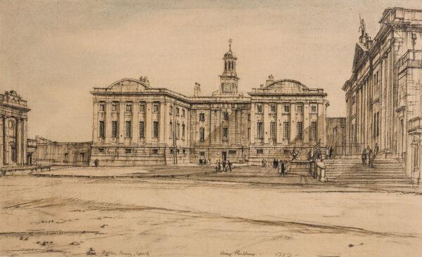 RUSHBURY Sir Henry R.A. R.E. R.W.S (1889-1968) - 'Debtors Prison, York'.