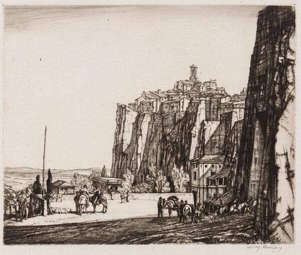RUSHBURY Sir Henry R.A. R.E. (1889-1968) - ''Porta Maggiore, Orvieto' (JR.