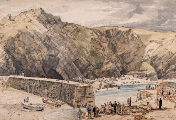 RUSHBURY Sir Henry R.A. R.E. (1889-1968) - 'Mullion Cove.