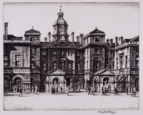 RUSHBURY Sir Henry R.A. R.E. (1889-1968) - 'Horse Guards' (JR85) Drypoint.