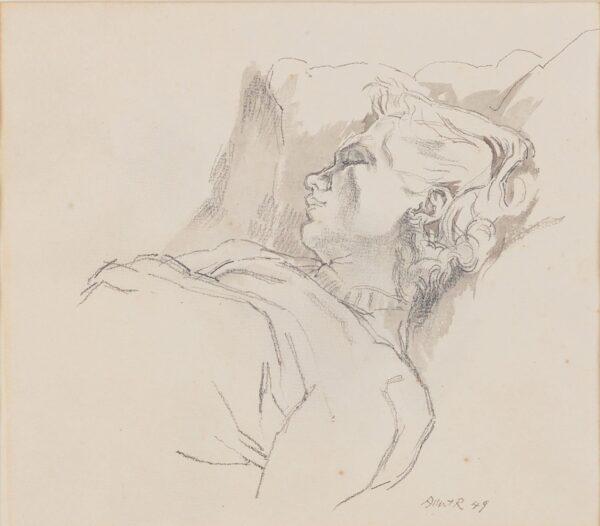 RUTHERSTON Albert (1881-1953) - Patricia, the artist's mistress, asleep.