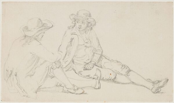 SANDBY Paul R.A. (1731-1809) - Two lounging boys.