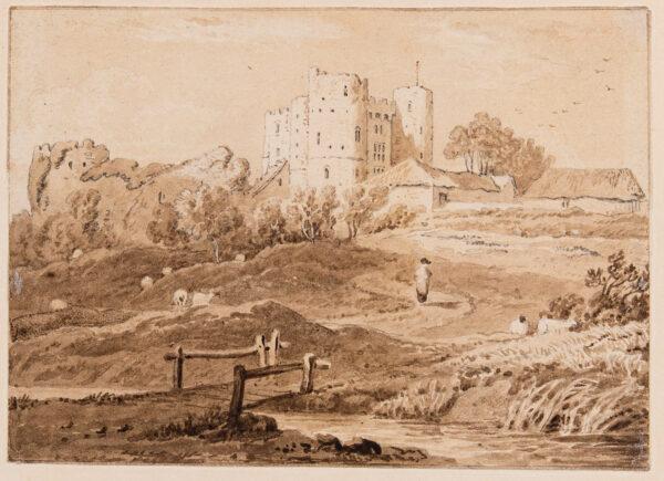 SALTWOOD CASTLE (Subject) Kent. Circa 1820. - Saltwood Castle.