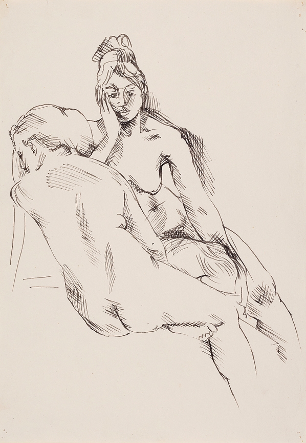 SAMUELSON Peter (1912-1996) - Two Nudes.