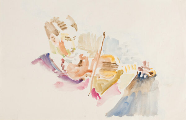 SAMUELSON Peter (1912-1996) - The Violinist.