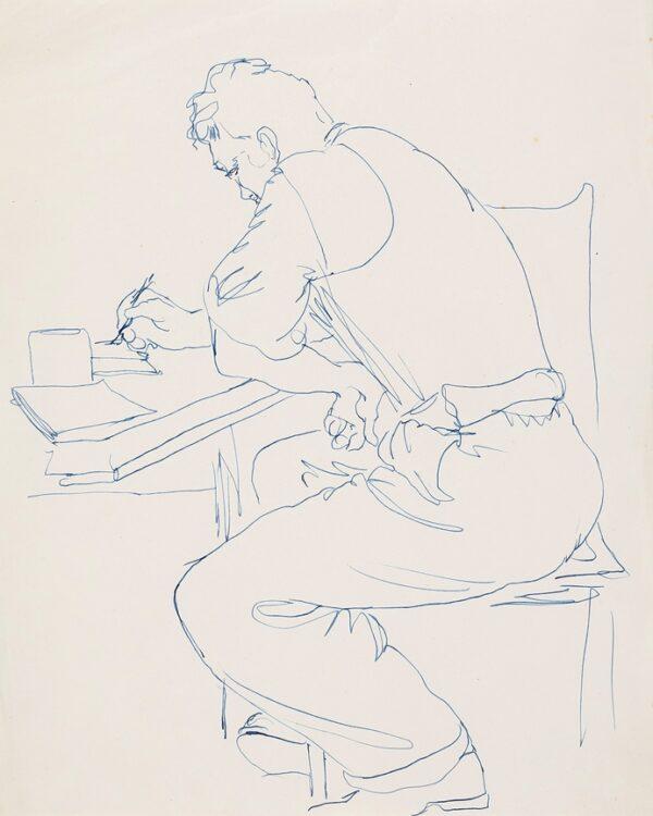 SAMUELSON Peter (1912-1996) - Boy at a desk.