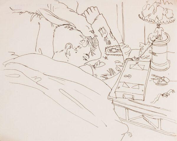 SAMUELSON Peter (1912-1986) - 'Tony Howard (Plaster Caste)'.