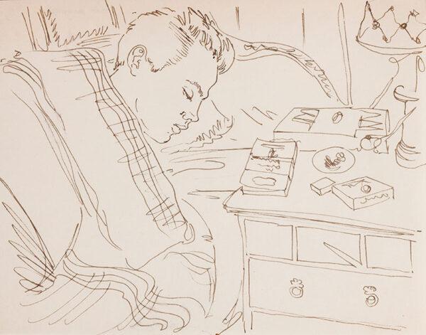 SAMUELSON Peter (1912-1986) - 'Tony Howard' asleep.