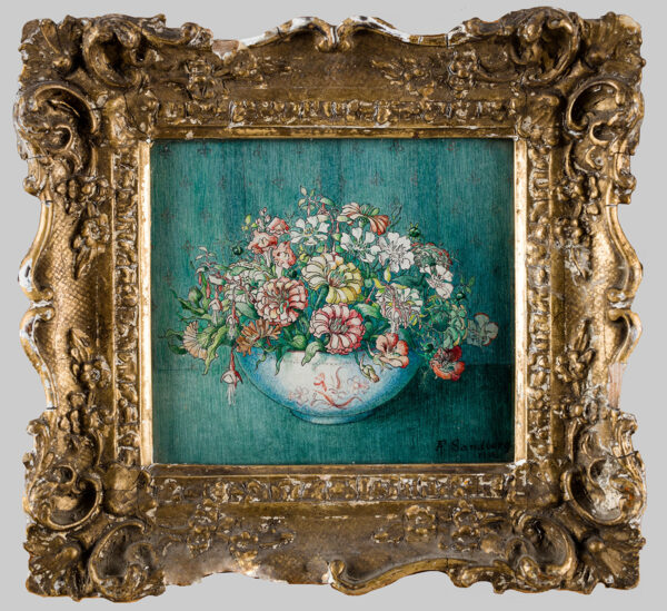 SANDBERG Alexandra Forbes (1933-1939) - A bowl of flowers.