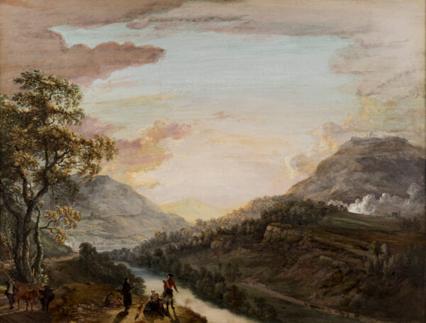SANDBY Paul R.A.(1731-1809) - 'Langollin (sic) in the County of Denbigh from the Turnpike Road above the River Dee'.
