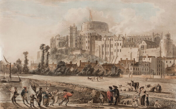SANDBY Paul R.A. (1731-1809) After - Windsor Castle from the Thames.