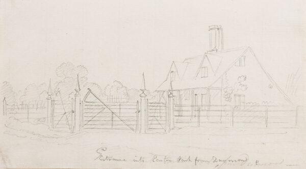 SANDBY Paul R.A. (1731-1809) - 'Entrance into Easton Park from Dun …', Essex.