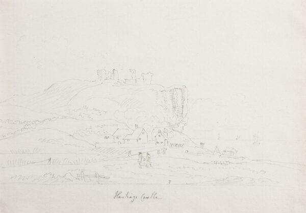 SANDBY Paul R.A. (1731-1809) - 'Hastings Castle'.