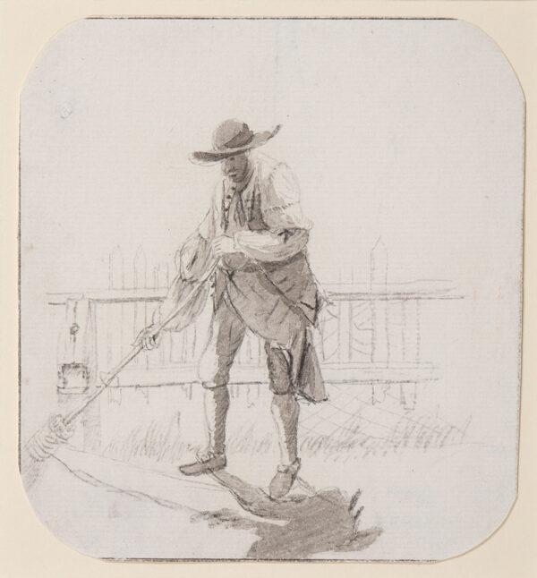 SANDBY Paul R.A. (1721-1798) - A gardener, beautifully observed.