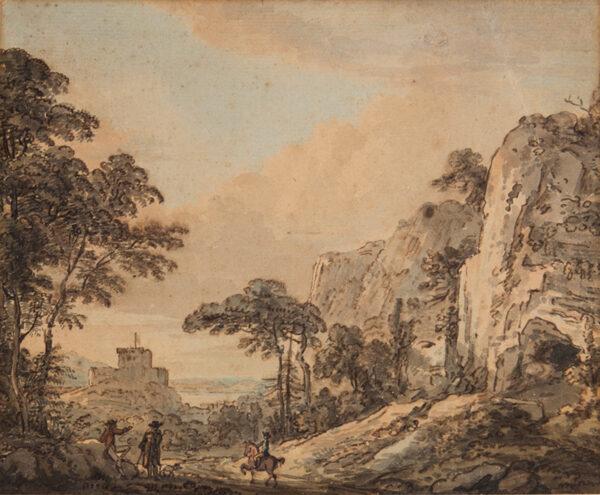 SANDBY Paul R.A. (1731-1809) - Landscape with horseman.