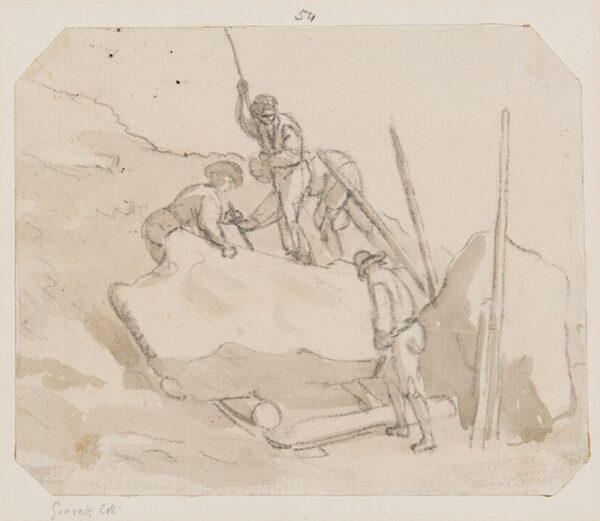 SANDBY Paul R.A. (1757-1809) - Quarrymen.