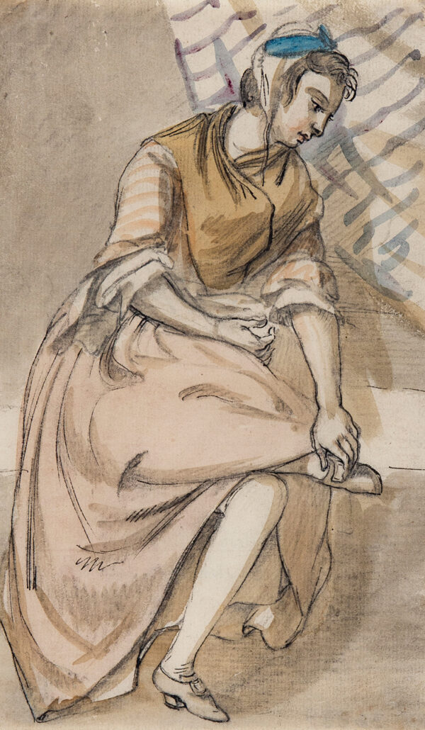 SANDBY Paul R.A. (1725-1809) - 'Susan Carroll, Bob Nunn's servant at Sandpit Gate.