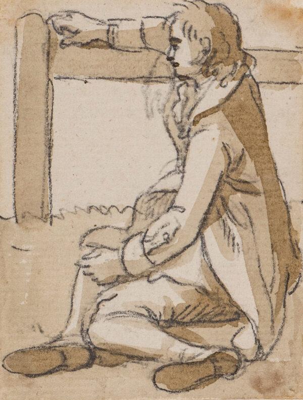 SANDBY Paul R.A. (1725-1809) - Resting boy.