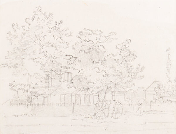 SANDBY Paul R.A. (1731-1809) - House in trees, possibly Windsor.