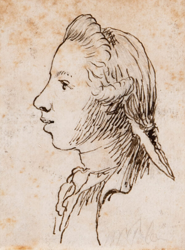 SANDBY Paul R.A. (1725-1809) - Head of a young man.