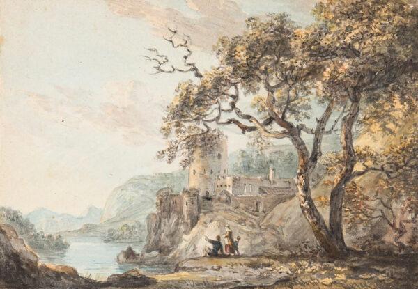 SANDBY Paul R.A (1731-1809) - Castle capriccio.