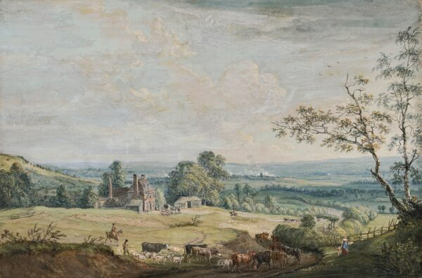 SANDBY Paul R.A. (1731-1809) - A Distant View of Maidstone, from the Lower Bell Inn, Blue Bell Hill.