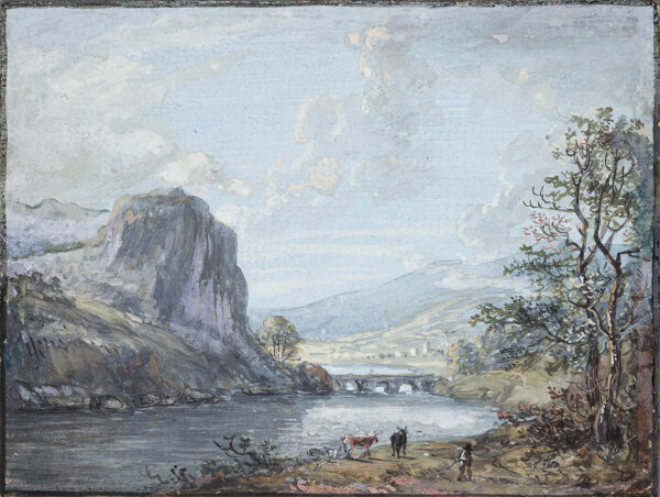 SANDBY Paul R.A. (1731-1809) - 'River Tay, near Killiecrankie'.