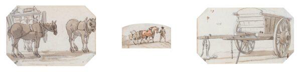 SANDBY Paul R.A. (1725-1809) - Horses and Carts.
