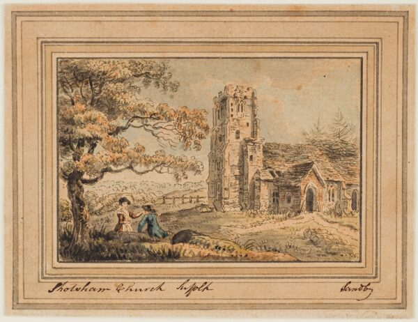 SANDBY Paul R.A. (1731-1809) - 'Shotsham (sic Shottisham) Church, Suffolk'.
