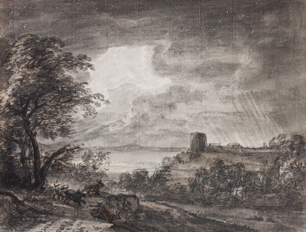 SANDBY Paul R.A. (1731-1809) (Circle of) - A coming storm.