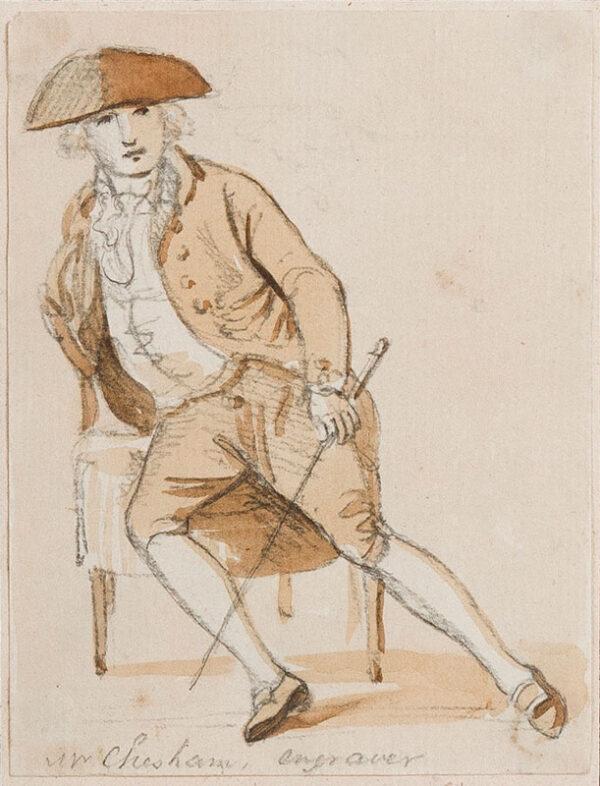 SANDBY Paul R.A. (1731-1809) - The engraver Francis Chesham (1749-1806).