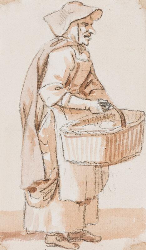 SANDBY Paul R.A. (1731-1809) - Market woman.