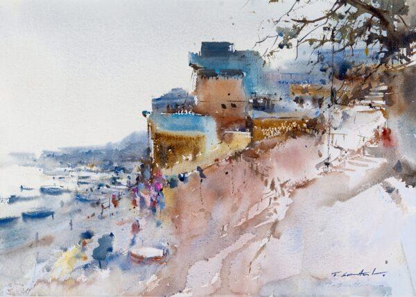 SAWANATEE Thongsuk (b.1963) - Varanasi, on the Ganges.