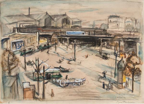 SCHULEIN Julius Wolfgang (1881-1970) - In exile: 'Gare Montparnasse'.