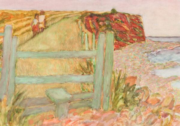 SCHWARZ Hans N.E.A.C. R.W.S. R.P. (1922-2003) - Somerset; the cliffs at Watchett.