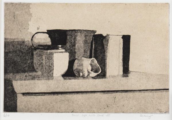 SCHWARZ Peri (b.1951) - 'Still life with shell III'.
