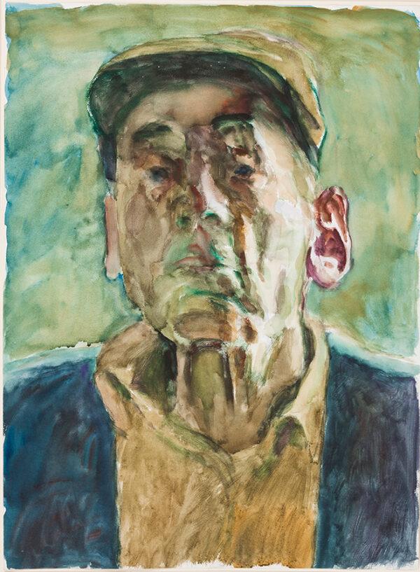SCHWARZ Hans R.W.S. N.E.A.C. R.P. (1922-2003) - The ear of the artist: self-portrait.