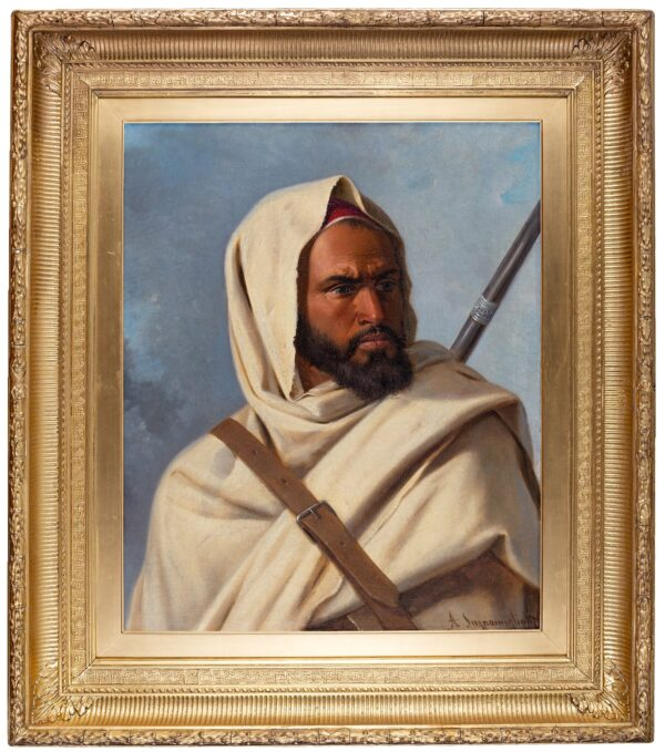 SCOGNAMIGLIO Antonio (19th century) - A Berber Warrior.
