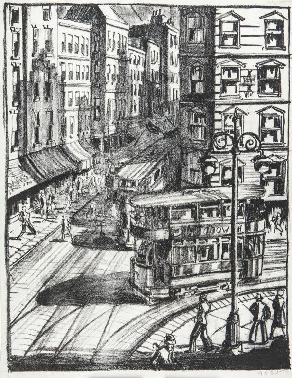 SCOTT Gordon (1914-2016) - South London street scene.