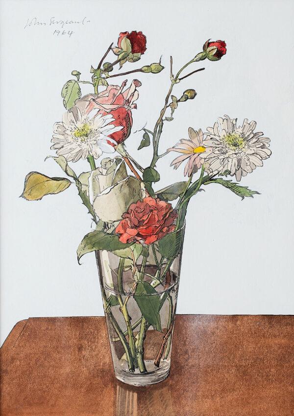 SERGEANT John (1937-2010) - A glass of flowers.