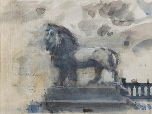 SERGEANT John (1937-2010) - 'The Lion / Westminster Bridge'.