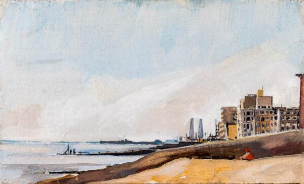 SERGEANT Emma (b.1959) - South coast beach, possibly Brighton.