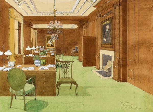 SERGEANT John (1937-2010) - 'Hambro's Bank: The Front Room, 41 Bishopsgate'.